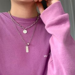 Wilma - 925 Sterling Silver Lettering Chain Necklace