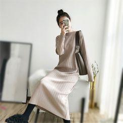 Yaonee - Long-Sleeve Midi Knit Dress