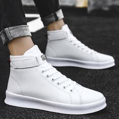Chaoqi - Platform Lace Up High Top Sneakers