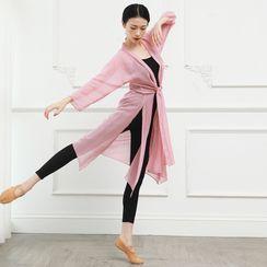 Winkplay - 七分袖雪纺舞蹈罩衫
