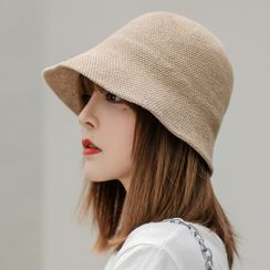 Jiggon - 纯色针织帽子