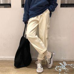 FUNJUAN - Straight-Fit Cargo Pants