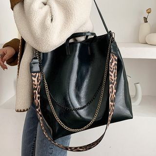 Emvee - Faux Leather Tote Bag
