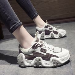 Cymbeline - Paneled Platform Sneakers