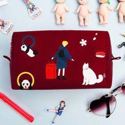 YUPIN - 印花旅游化妆包