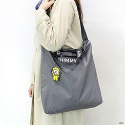 BABOSARANG - 'BT21' Letter-Strap Shopper Bag with Keyring