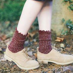 Socka - 3 Pairs: Ruffled Socks
