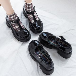 Yuki Yoru - Platform Heel Buckled Mary Janes