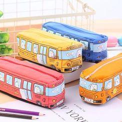 Red Unicorn - Canvas Pencil Case