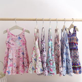 Seashells Kids - Kids Floral Sleeveless A-Line Dress