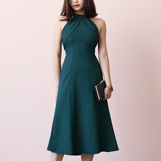 TANSSHOP - Halter High Waist A-Line Dress