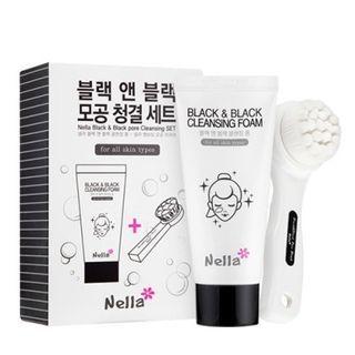 Nella - Black & Black Pore Cleansing Set