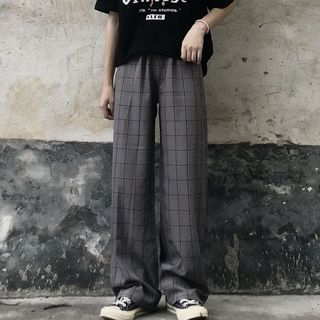 2DAWGS(2ドーグス) - Checked Wide-Leg Pants