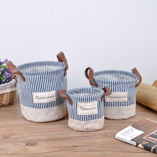 Hyole - Striped Fabric Organizer Basket