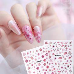 WGOMM - 樱花美甲贴纸