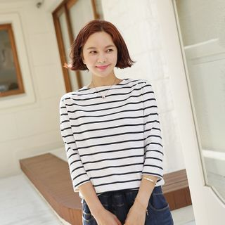 Lemite - Boat-Neck Stripe T-Shirt