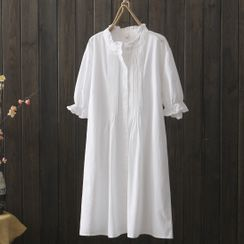 Suzette - 短袖直身連衣中裙