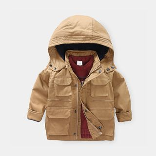 Seashells Kids - Kids Hooded Zip Cargo Jacket