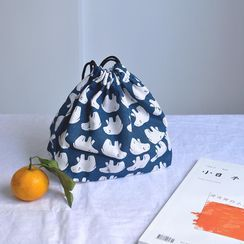 Ordina - Printed Drawstring Insulated Lunch Bag