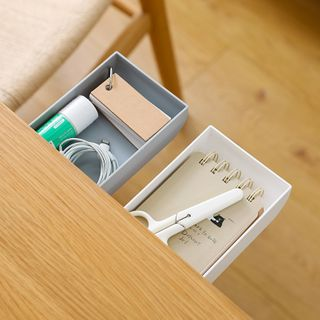 Ms Zaa - Adhesive Under Desk Storage Box