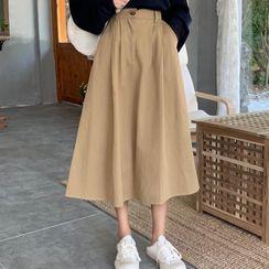 Astarte - Falda midi de cintura alta y corte evasé