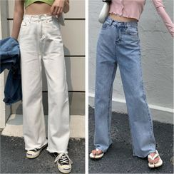 Allizzwell - High-Waist Loose-Fit Jeans