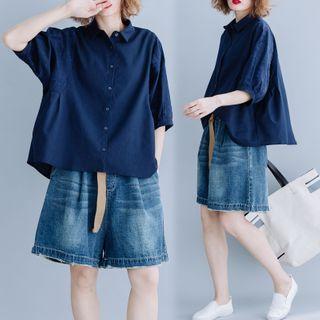 RAIN DEER - Plain Semi Sleeve Shirt