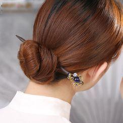 Gangnam - Retro Glass Flower Hair Stick