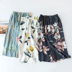 Dogini - Floral Print Pajama Gaucho Pants