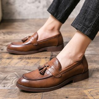 WeWolf - Cutout Tasseled Faux-Leather Loafers