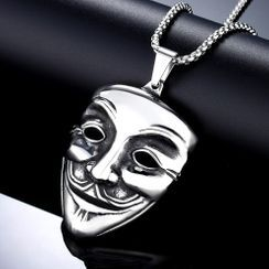 Sigil - Mask Pendant Stainless Steel Necklace