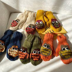 Hats 'n' Tales - Owl Knit Mittens