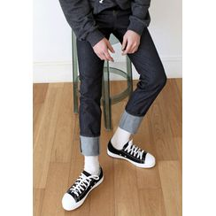 PLAYS - Toe-Cap Stitched Canvas Sneakers