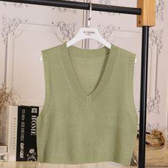 Algar - Cropped Knit Vest