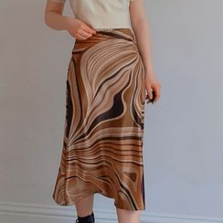 Sosana - High-Waist Printed Midi Skirt