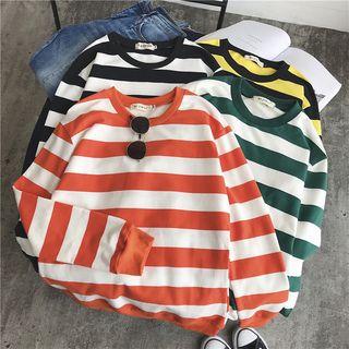 Deepwood(ディープウッド) - Couple Matching Striped Sweatshirt