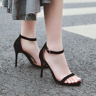 JY Shoes - Open Toe Ankle Strap High Heel Sandals