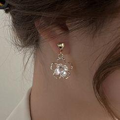 YUGGI - Flower Dangle Earring