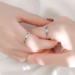 Cmill - 925 Sterling Silver Morse Code Ring