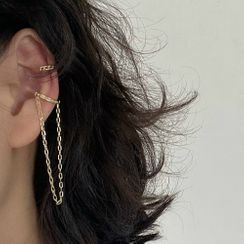 Kokyu - Non-matching Chained Cuff Earring