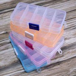 JAMIEL - 10 Compartment Plastic Accessory Organizer Box