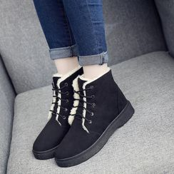 Aneka - Lace-Up Ankle Boots