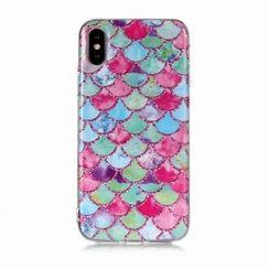 Angelme - 扇形亮面手機保護殼 - iPhone XS / XR / 6 / 7 / 8Plus