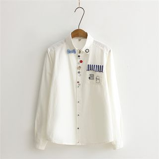 DeToile - Long-Sleeve Embroidery Shirt