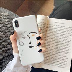 Fellus - Face Print Phone Case - iPhone 11 Pro Max / 11 Pro / 11 / SE / XS Max / XS / XR / X / SE 2 / 8 / 8 Plus / 7 / 7 Plus