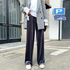 ONPOINTE - Straight-Cut Velvet Pants