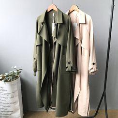 JOEJOE - 長款腰結帶夾克