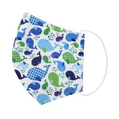 Miumi - Handmade Water-Repellent Fabric Mask Cover (Whale Print)(7-16 Years)