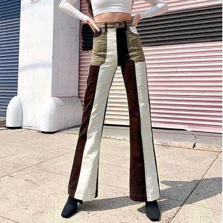 Femme Cradle - Color Block Boot-Cut Jeans