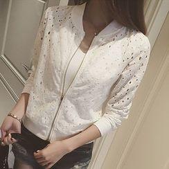 Hilsah - Lace Zip Jacket